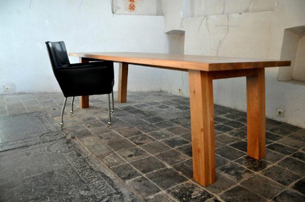Massief eiken houten eikenhouten design eetkamer keuken tafel