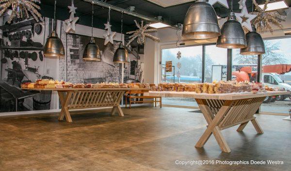 Haytop massief eiken noten houten design eetkamer tafel recht 6