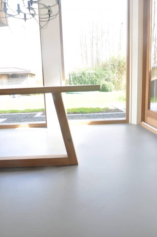Netement massief eiken houten design eetkamer tafel