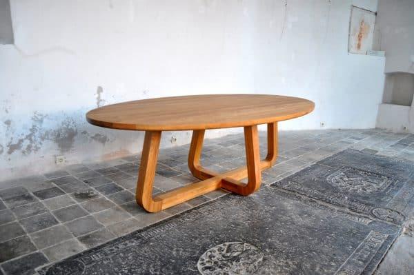 Massief eiken houten ovale design eetkamer keuken design tafel