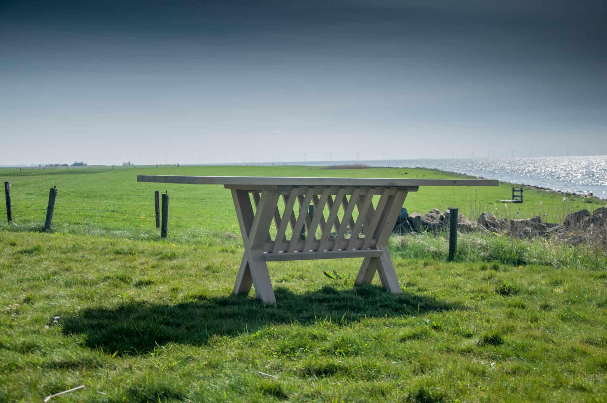 Massief eiken houten eikenhouten rechte rechthoek eetkamer keuken tafel tafels