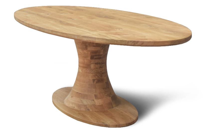 Massief noten houten ovaal ovale design eetkamer keuken design tafel