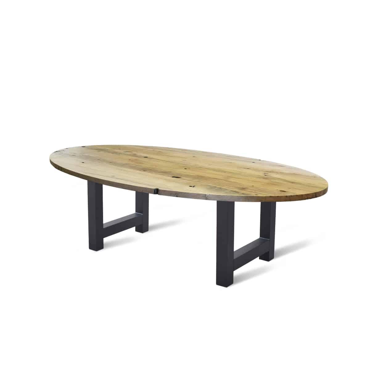 Massief eiken houten wagonhout eetkamer tafel eettafel keuken meubelmaker friesland rustiek geleefd
