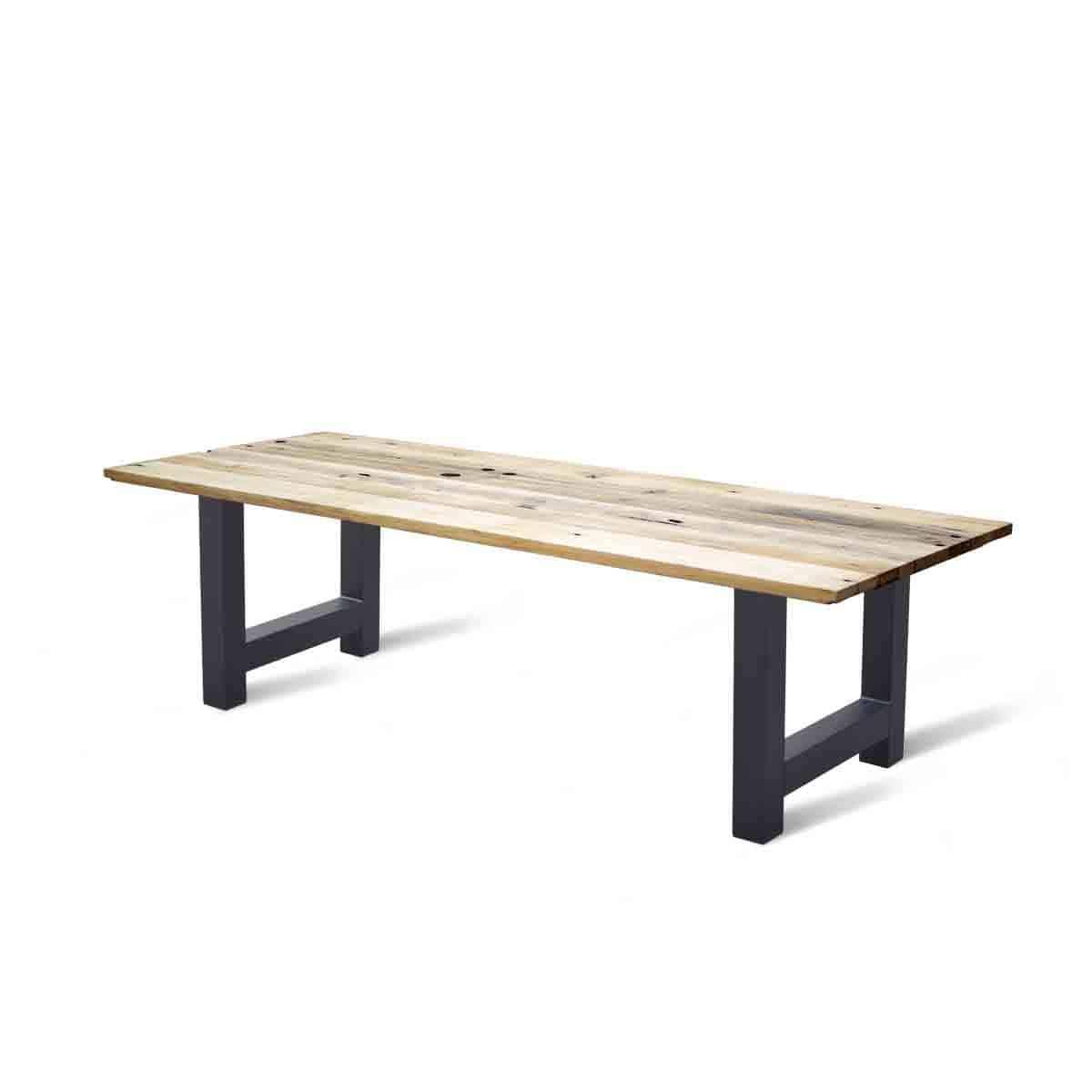 Massief eiken houten wagonhout eetkamer tafel eettafel keuken meubelmaker friesland